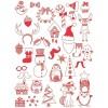 Stempelki piankowe Boże Narodzenie dla dzieci 35 sztuk