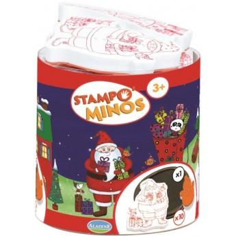 Aladine Świąteczne stempelki piankowe 10szt dla dzieci +3