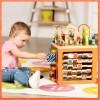 B.Toys Olbrzymia drewniana kostka edukacyjna Zany Zoo z literkami
