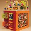 B.Toys Olbrzymia drewniana kostka edukacyjna Zany Zoo ze zwierzętami