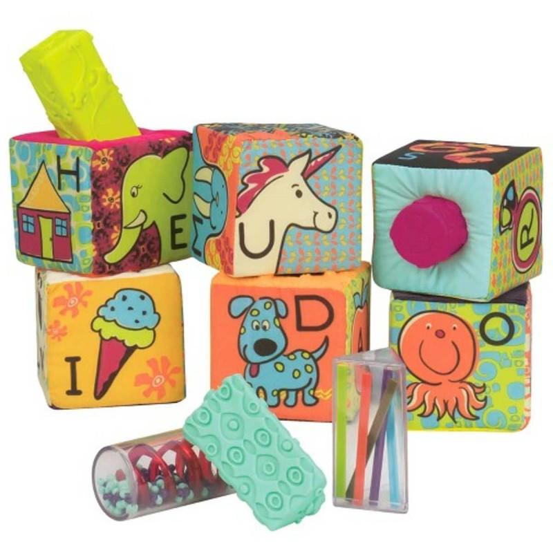 B.Toys Klocki sensoryczne dla niemowląt ABC Block Party