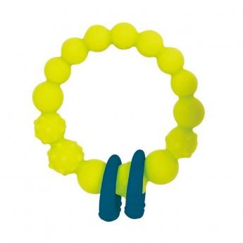 B.Toys Gryzak silikonowy limonkowy z pierścieniami +0