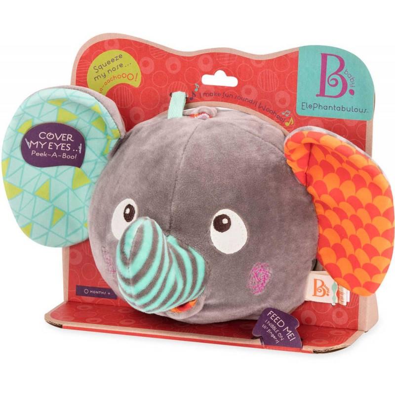B.Toys Słoń pluszowa piłka muzyczna dla niemowląt