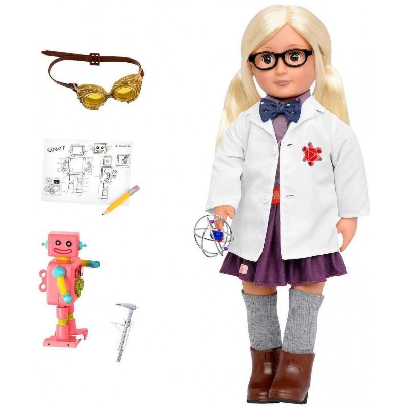 Lalka dla dzieci Amelia Naukowiec 46cm blondynka, Our Generation