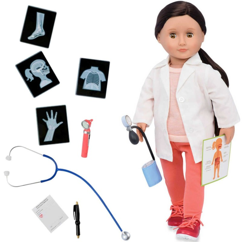 Lalka dla dzieci Nicola Lekarz 46cm brunetka, Our Generation