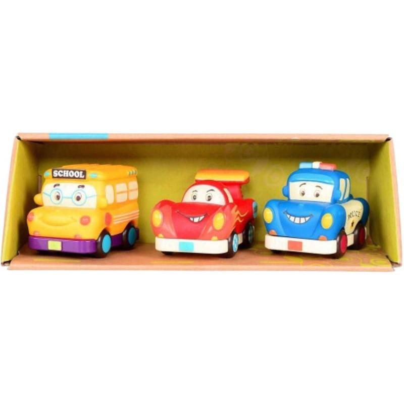 3 mini samochodziki z napędem Wheeee-ls!, B.Toys