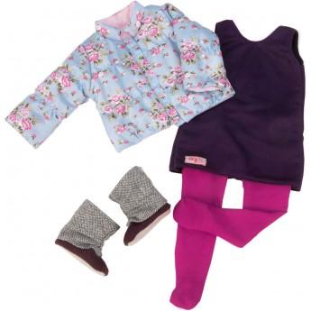 Ubrania dla lalek zestaw Snow Blooms, Our Generation