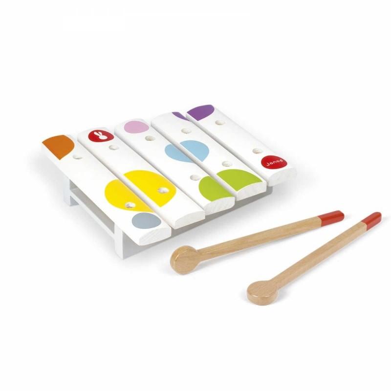 Janod Cymbałki drewniane dla dzieci od 12mc Confetti