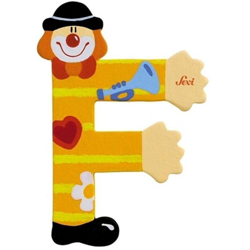 "Litera ""F"" z klaunem"