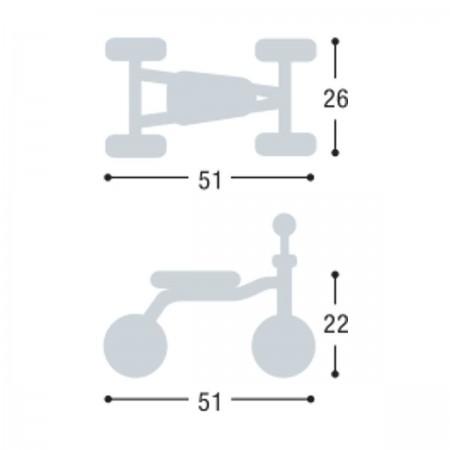 PUKYlino jeździk kiwi metalowy dla dzieci od 12mc