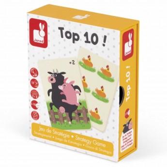 Janod Top 10 gra strategiczna karciana dla 5 latków