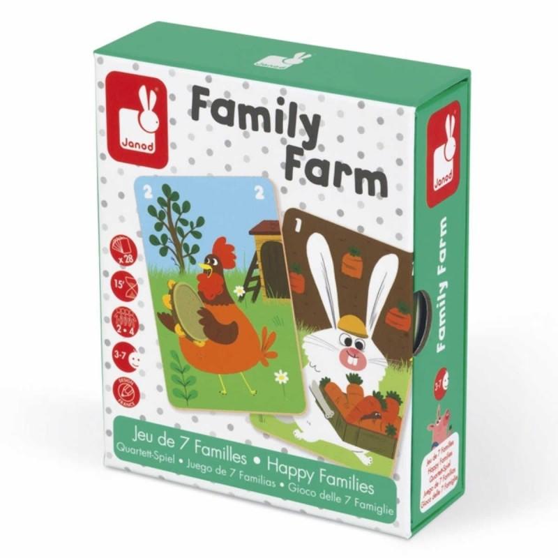 Gra karciana Rodziny na farmie dla 3 latków, Janod