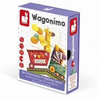 Gra karciana skojarzenia dla 3 latków Wagoniki, Janod