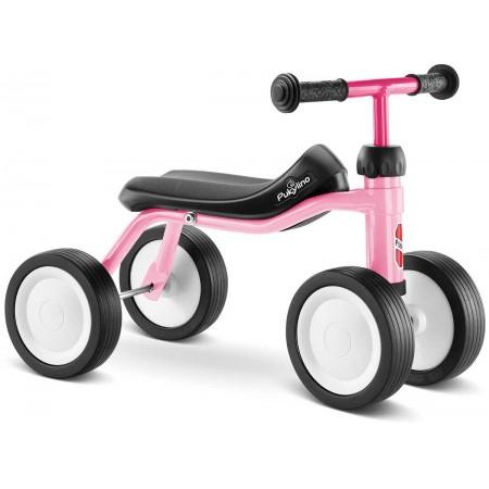 PUKYlino jeździk różowy pastel metalowy dla dzieci +12m