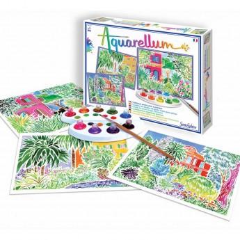 Aquarellum Riviera 3 obrazy do malowania i farby 7+, SentoSphere