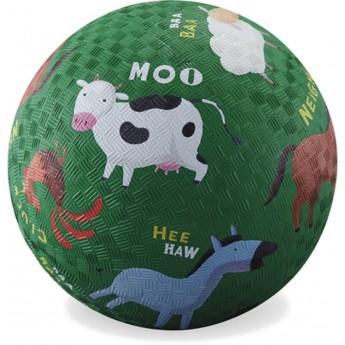 Piłka gumowa dla dzieci 18cm Farma, Crocodile Creek