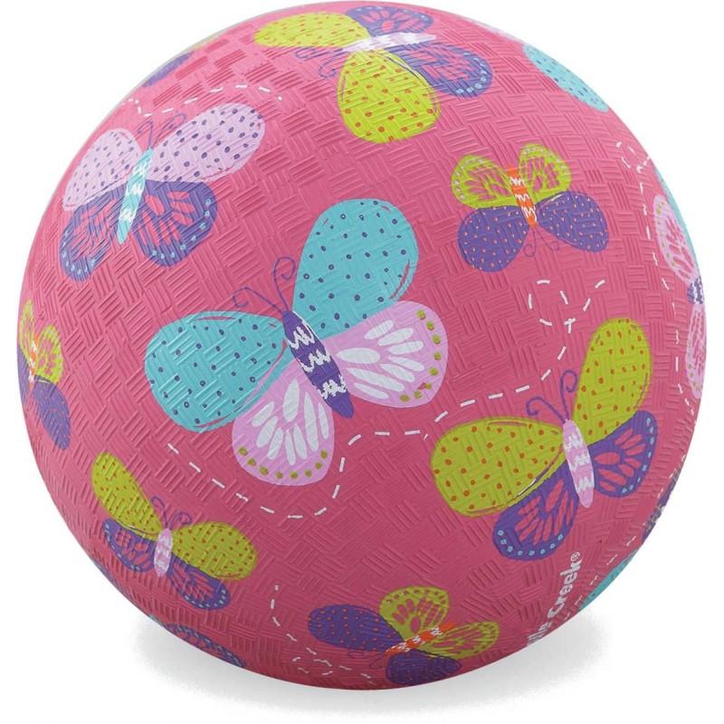Piłka gumowa dla dzieci 18cm Motyle, Crocodile Creek