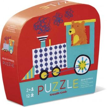Misiowy Ekspres puzzle 12 el. w pudełku, Crocodile Creek