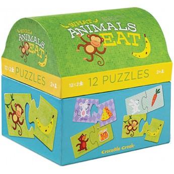 Co jedzą zwierzątka? puzzle 2 elementy, Crocodile Creek