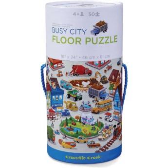 Puzzle kartonowe 50 elementów Miasto, Crocodile Creek