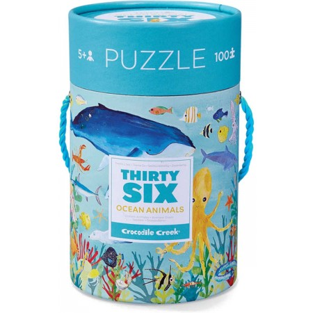 Puzzle kartonowe 100 el. Morskie Zwierzęta, Crocodile Creek