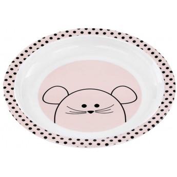 Lassig Talerz z melaminy dla dzieci Little Chums Mysz