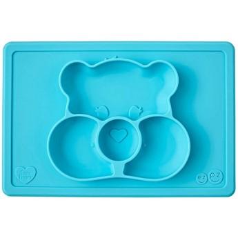 EZPZ Silikonowy talerzyk dla dzieci turkusowy Wish Bear