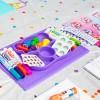 EZPZ Silikonowy talerzyk dla dzieci fioletowy Wish Bear
