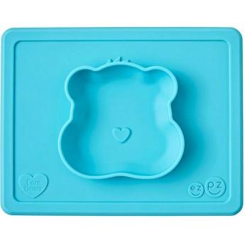 EZPZ Silikonowa miseczka dla dzieci turkusowa Wish Bear