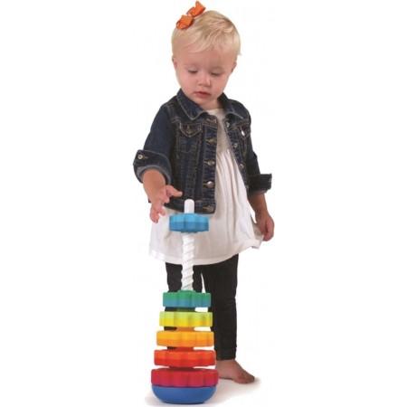 Zakręcona Wieża SpinAgain zabawka od 12mc Fat Brain Toy   Dadum Kraków