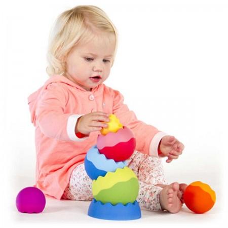 Tobbles Neo wieża kulek dla niemowląt, Fat Brain Toy