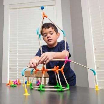Klocki konstrukcyjne Joinks 76 elementów, Fat Brain Toys