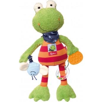 Edukacyjna zabawka pluszowa Żabka dla niemowląt, Sigikid