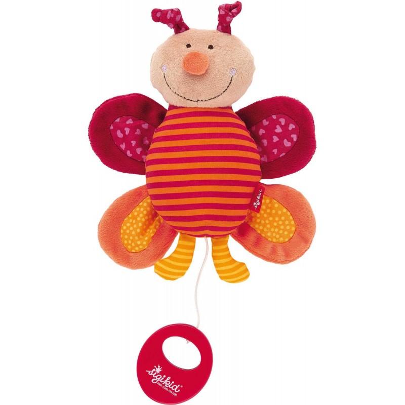 Pluszowa pozytywka Motylek dla niemowląt od urodzenia, Sigikid
