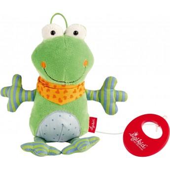 Pozytywka pluszowa dla niemowląt Żabka zielona, Sigikid