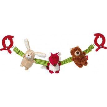 Łańcuszek do wózka dla niemowląt Zwierzęta Lasu, Sigikid