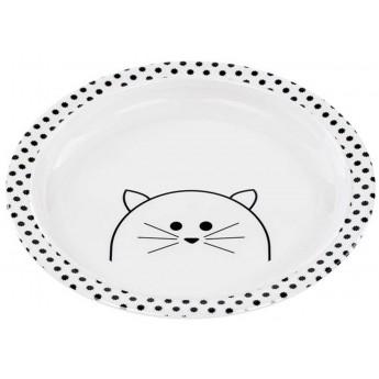 Lassig Talerz z melaminy dla dzieci Little Chums Kot