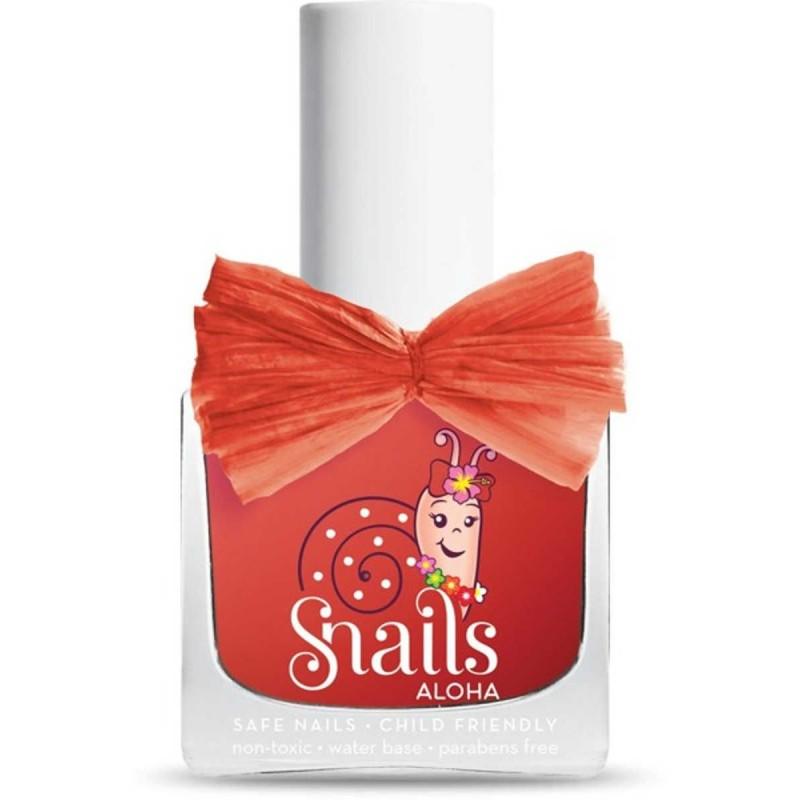 Snails czerwony lakier do paznokci dla dzieci Aloha Lava
