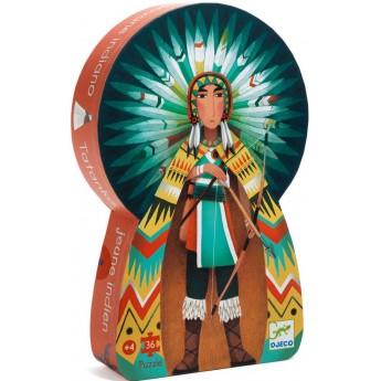 Indianin puzzle kartonowe dla dzieci 36 elementów, Djeco