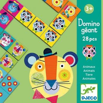 Djeco gra Domino Gigant ze szalonymi zwierzętami +3