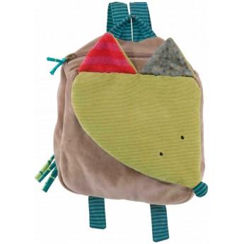 Moulin Roty pluszowy plecaczek WILK dla małych dzieci