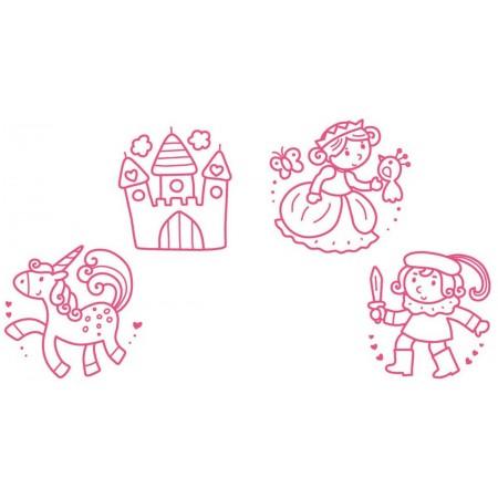 Aladine Stempelki piankowe Księżniczki dla dzieci +18m