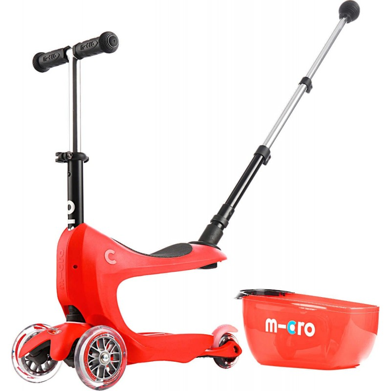 Mini2go Red Deluxe Plus jeździk i hulajnoga z siedziskiem