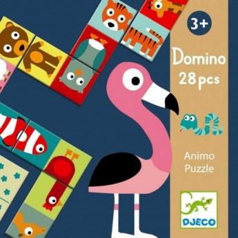 Djeco Gra domino Animo Puzzle edukacyjna dla 3 latka