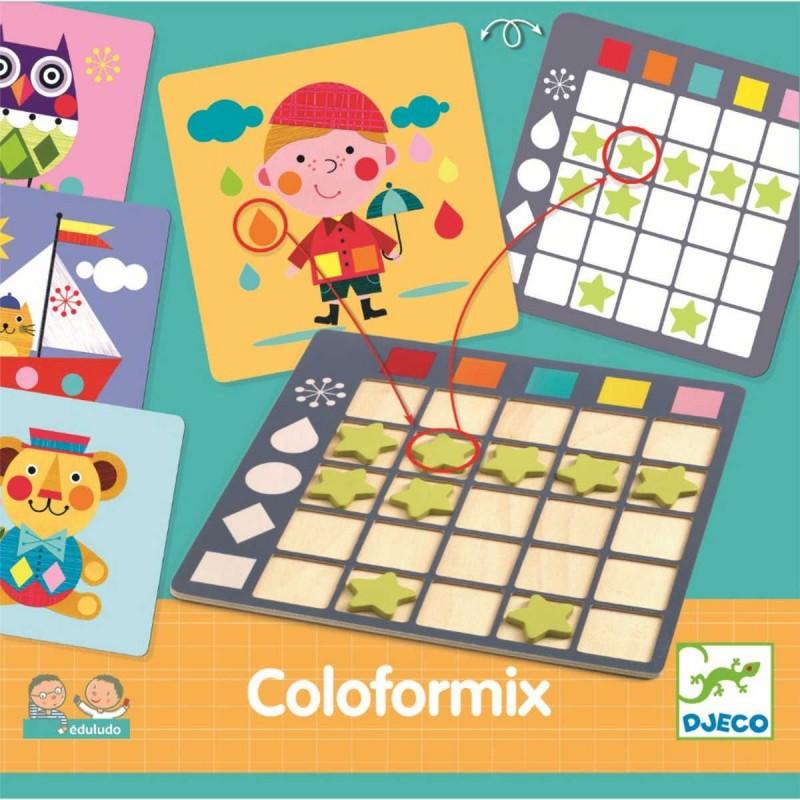 Djeco Gra do nauki kształtów i kolorów Edulodo Coloformix
