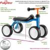 Obrazkowy opis jeździka PUKYlino, wysokość, szerokość, koła, siedzenie, dla kogo