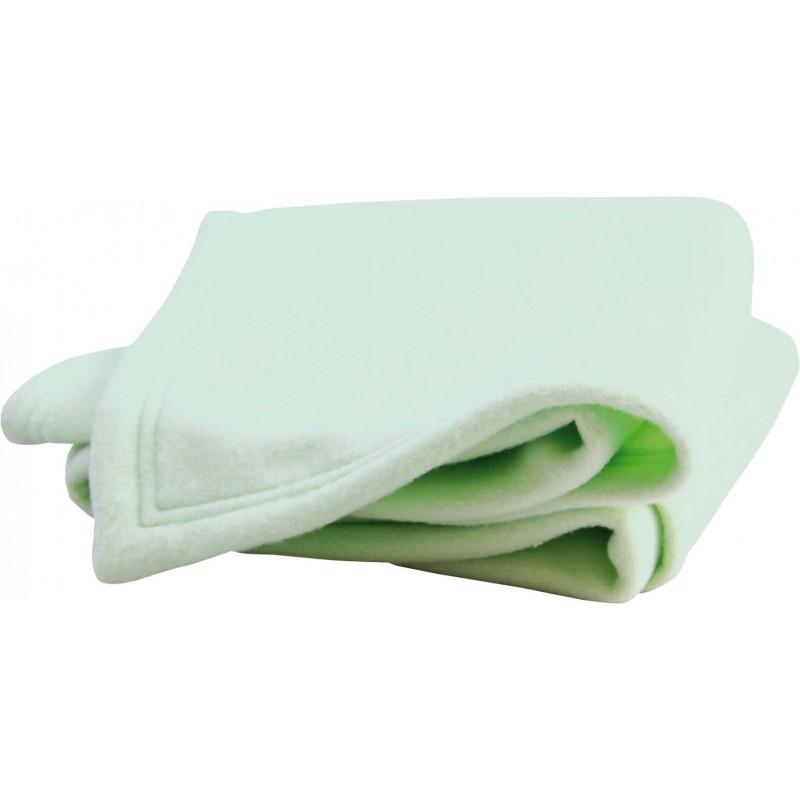 Koc polarowy dla niemowlaka 75x100cm zielony anyżowy, Doux Nid
