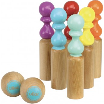 Vilac Kręgle drewniane dla dzieci Retro 24cm zabawka +5lat