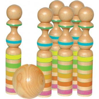 Vilac Kręgle drewniane duże 29cm zabawka dla całej rodziny