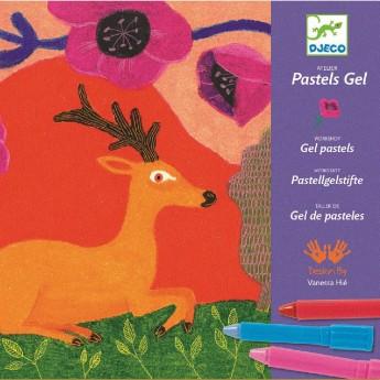 Djeco Zestaw kreatywny do malowania pastelami Wild Things